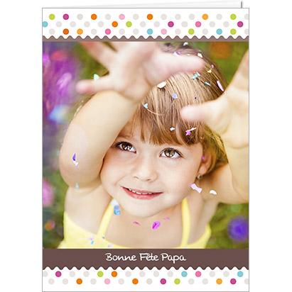 Carte Joyeuse Fête Papa personnalisable avec petits ronds