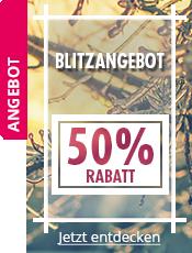 BLITZANGEBOT -50% auf ausgewählte Produkte