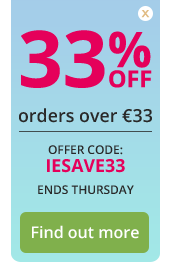 33% OFF orders over €33