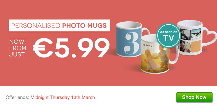 Personalised Photo Mugs - now from just €5.99