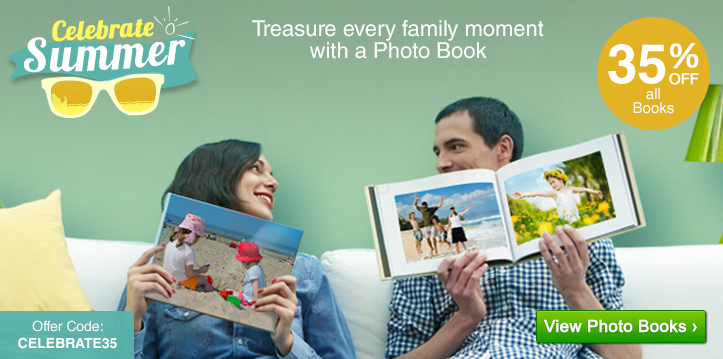 Celebrate Summer - 35% OFF Photo Books