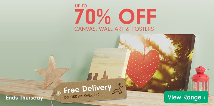 Up to 70% Off Canvas, Posters & Wall Art