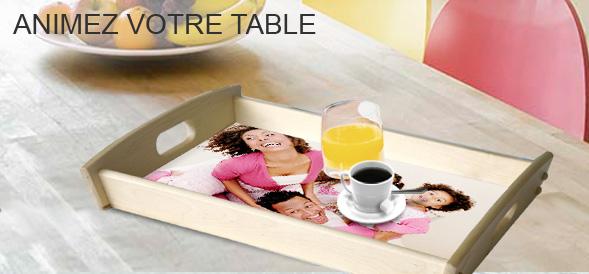 plateau personnalis avec une photo en bois photoways. Black Bedroom Furniture Sets. Home Design Ideas