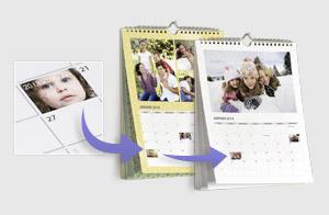 Le calendrier avec vos photos pour votre bureau photobox - Calendrier photo de bureau ...