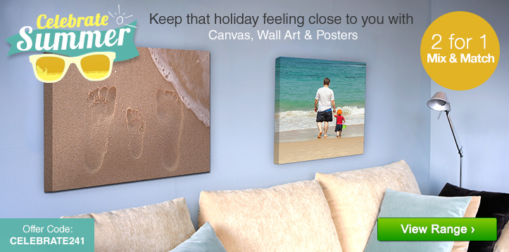 Celebrate Summer - 2 for 1 Mix & Match on Canvas, Wall Décor & Posters