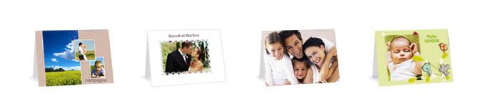 Eenvoudige modellen, bedankingen, geboorte kaartje