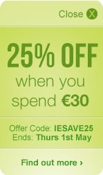 25% OFF when you spend €30