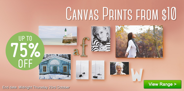 Canvas Prints from $10