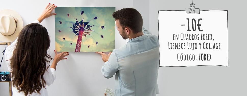 Descuento especial en Cuadros Forex, Lienzos Lujo y Lienzos Collage Lujo. Usa el código: FOREX