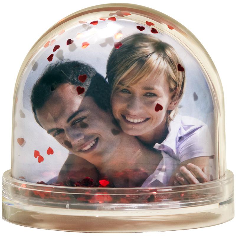 Boule à Neige Coeur Photo personnalisée