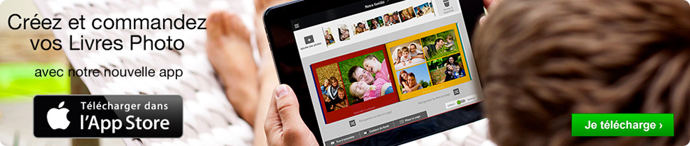 Téléchargez notre application livre photo