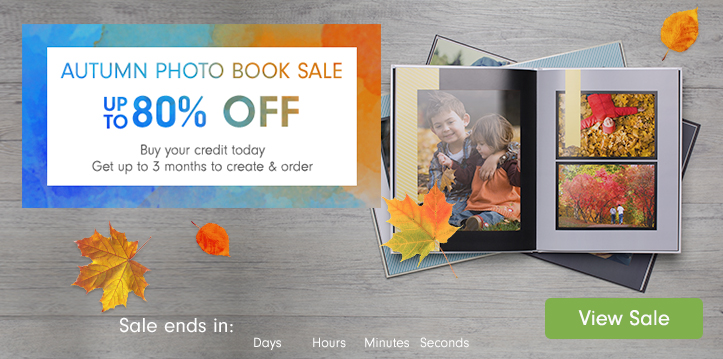 Autumn Photo Book Sale - up to 80% off
