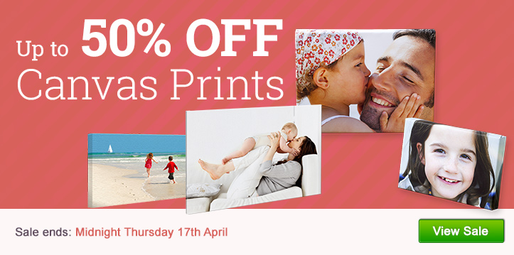 Up to 50% OFF Canvas Prints
