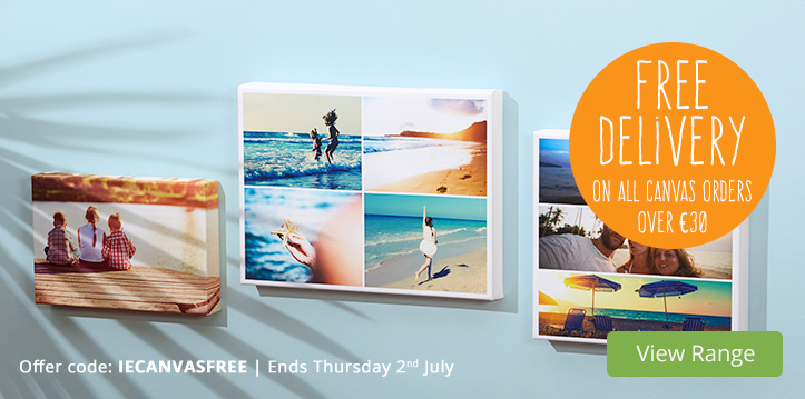 Canvas Prints - FREE Delivery on all Canvas orders over €30