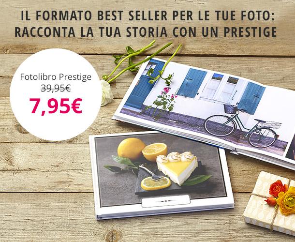 Fotolibro Prestige PhotoBox personalizzabile a soli 7,95€