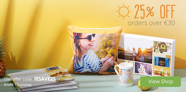 25% OFF orders over €30