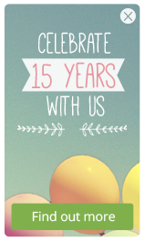 Celebrate 15 years with us