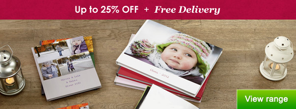 Photo Books - up to 25% OFF + Free Delivery