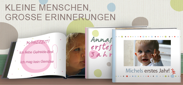 fotobuch vom baby selbst gestalten und online bestellen. Black Bedroom Furniture Sets. Home Design Ideas