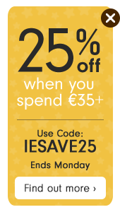 25% off when you spend €35+