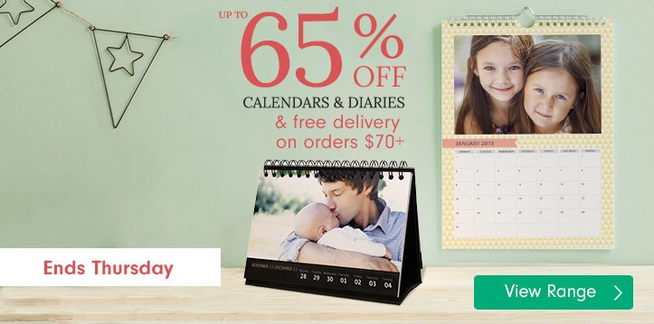 Calendars & Diaries - up to 65% off