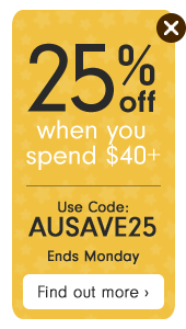 25% off when you spend $40+