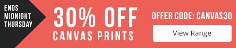 30% off Canvas Prints