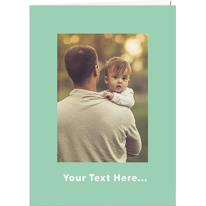 Mint green card for Father's day
