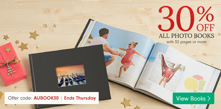 30% off Photo Books with 32+ pages