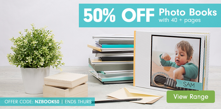 50% off Photo Books with 40 + pages