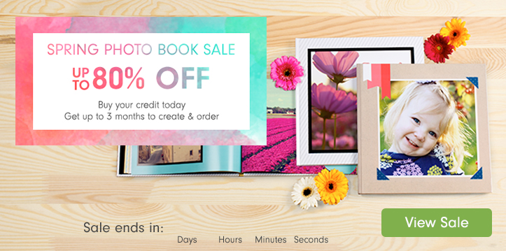 Spring Photo Book Sale - up to 80% off