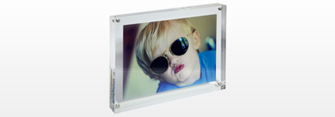Clear Acrylic Magnetic Block