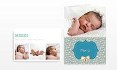Geburts-Dankeskarten