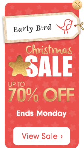 Early Bird Christmas Star Sale – up to 70% off