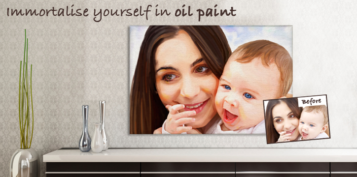 Immortalise yourself in Oil Paint
