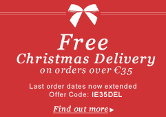 Free Christmas Delivery on orders over €35