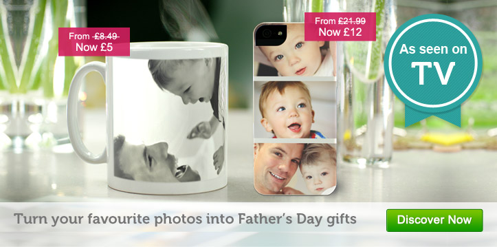 Turn your favourite photos into Father's Day gifts