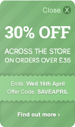 30% OFF across the store - On orders over £35