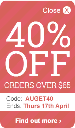 40% OFF orders over $65