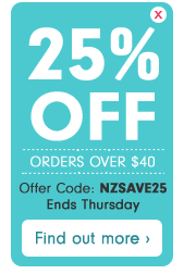 25% off orders over $40