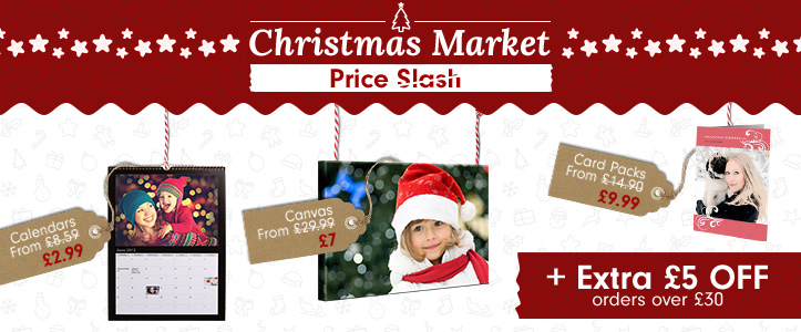 Christmas Market Price Slash + Extra £5 off all orders over £30
