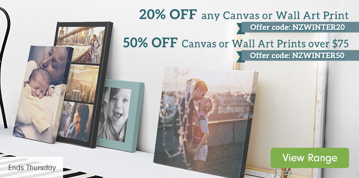 Up to 50% OFF Canvas and Wall Art Prints