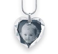Le Pendentif cœur en cristal
