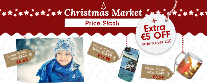 Christmas Market now open - up to 70% off + Extra €5 off on orders over €30
