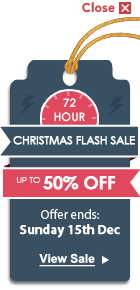 72 Hour Christmas Flash Sale - Up To 50% OFF
