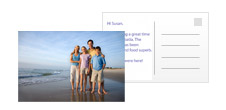 Personalise a postcard with your own photo