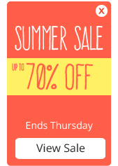 Up to 70% OFF in our Summer Sale