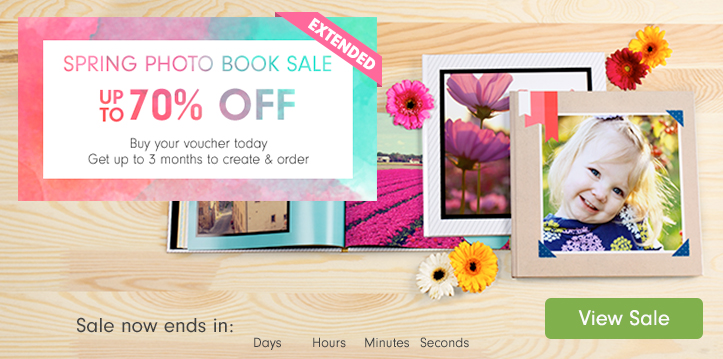 Spring Photo Book Sale EXTENDED- up to 70% off