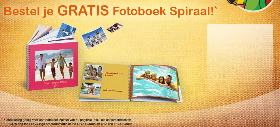 Bestel je GRATIS Fotoboek Spiraal!*