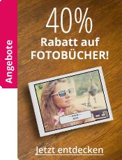 Fotobücher ab 50 Seiten 40% Rabatt
